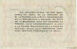 50 Centimes FRANCE régionalisme et divers Colmar 1918 JP.130.02 SUP