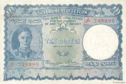 10 Rupees CEYLAN  1945 P.36Aa TTB