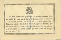 1 Franc FRANCE régionalisme et divers Béthune 1915 JP.026.07 TTB à SUP