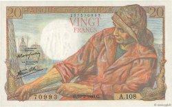 20 Francs PÊCHEUR FRANCE  1944 F.13.08 pr.NEUF