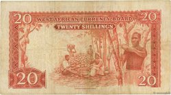 20 Shillings AFRIQUE OCCIDENTALE BRITANNIQUE  1953 P.10a pr.TB