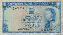 10 shillings RHODÉSIE  1964 P.24 TB