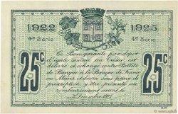25 Centimes FRANCE régionalisme et divers LE MANS 1922 JP.069.20 NEUF