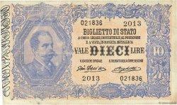 10 Lires ITALIE  1918 P.020f TTB