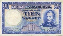 10 Gulden PAYS-BAS  1945 P.075b TTB