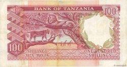 100 Shillings TANZANIE  1966 P.04a pr.TTB