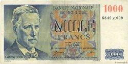 1000 Francs BELGIQUE  1955 P.131 pr.TTB