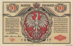 10 Marek POLOGNE  1917 P.013 pr.SUP