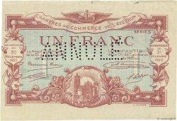 1 Franc FRANCE régionalisme et divers Rodez et Millau 1921 JP.108.19 TTB à SUP