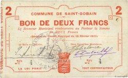 2 Francs FRANCE régionalisme et divers SAINT GOBAIN 1915 JP.02-1997 TTB