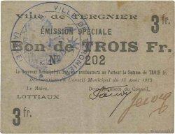 3 Francs FRANCE régionalisme et divers  1915 JP.02-2726 TTB