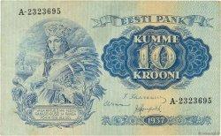 10 Krooni ESTONIE  1937 P.67a TTB+