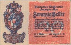 20 Heller LIECHTENSTEIN  1920 P.02 SPL