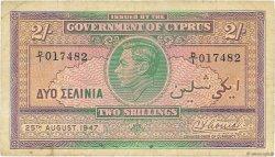 2 Shillings CHYPRE  1947 P.21 TB