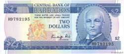 2 Dollars BARBADE  1986 P.36 NEUF