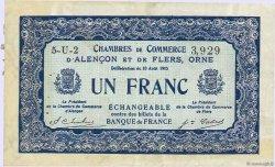 1 Franc FRANCE régionalisme et divers ALENCON ET FLERS 1915 JP.006.48 TTB