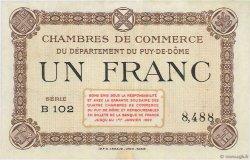1 Franc FRANCE régionalisme et divers PUY-DE-DÔME 1918 JP.103.16 SUP