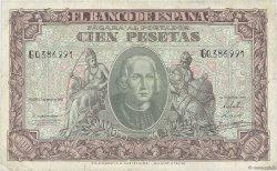 100 Pesetas ESPAGNE  1940 P.118a TB