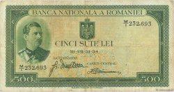 500 Lei ROUMANIE  1934 P.036a pr.TTB