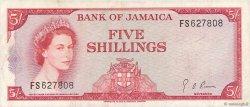 5 Shillings JAMAÏQUE  1967 P.51Ad TTB