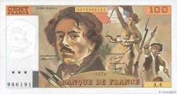 100 Francs DELACROIX modifié FRANCE  1978 F.69.01c SUP à SPL
