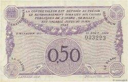 50 Centimes FRANCE régionalisme et divers CHATEAUROUX 1920 JP.046.24 NEUF