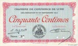 50 Centimes FRANCE régionalisme et divers LURE 1915 JP.076.05 SPL