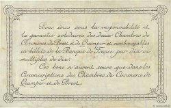 50 Centimes FRANCE régionalisme et divers QUIMPER ET BREST 1922 JP.104.22 TTB