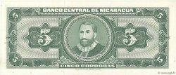 5 Cordobas NICARAGUA  1968 P.116a NEUF