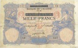 1000 Francs sur 100 Francs type 1892 TUNISIE  1943 P.31 TTB