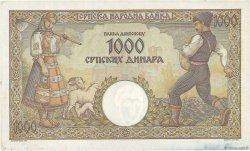 1000 Dinara SERBIE  1942 P.32a TTB+ à SUP
