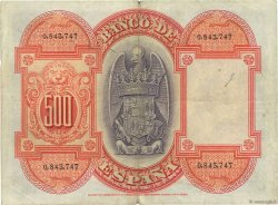 500 Pesetas ESPAGNE  1927 P.073a TTB