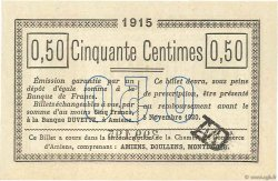 50 Centimes FRANCE régionalisme et divers Amiens 1915 JP.007.14 NEUF