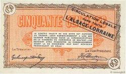 50 Centimes FRANCE régionalisme et divers BELFORT 1918 JP.023.48 NEUF