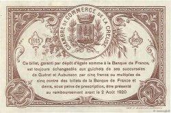2 Francs FRANCE régionalisme et divers GUÉRET 1915 JP.064.06 pr.SPL