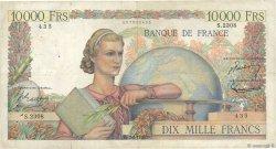 10000 Francs GÉNIE FRANÇAIS FRANCE  1952 F.50.56 B+