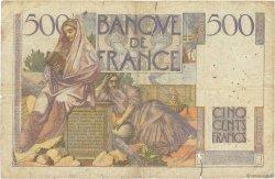 500 Francs CHATEAUBRIAND FRANCE  1945 F.34.03 B