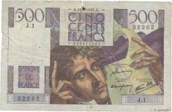 500 Francs CHATEAUBRIAND FRANCE  1945 F.34.01 B+