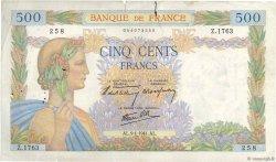 500 Francs LA PAIX FRANCE  1941 F.32.12 TB+