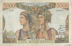 5000 Francs TERRE ET MER FRANCE  1951 F.48.04 B