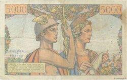 5000 Francs TERRE ET MER FRANCE  1951 F.48.04 pr.TTB