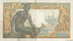 1000 Francs DÉESSE DÉMÉTER FRANCE  1943 F.40.24 TB