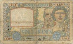 20 Francs SCIENCE ET TRAVAIL FRANCE  1939 F.12.01 B