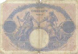50 Francs BLEU ET ROSE FRANCE  1915 F.14.28 B