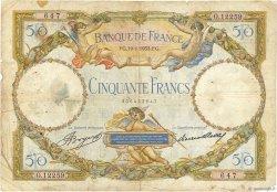 50 Francs LUC OLIVIER MERSON type modifié FRANCE  1933 F.16.04 pr.B