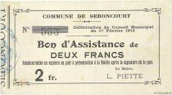 2 Francs FRANCE régionalisme et divers  1915 JP.02-2119 TTB