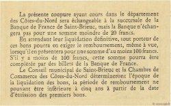 50 Centimes FRANCE régionalisme et divers Saint-Brieuc 1918 JP.111.13 NEUF