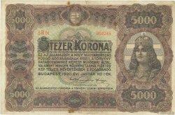 5000 Korona HONGRIE  1920 P.067 TTB