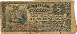 5 Centavos CUBA  1876 P.029b TTB