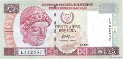 5 Pounds CHYPRE  2001 P.61a NEUF